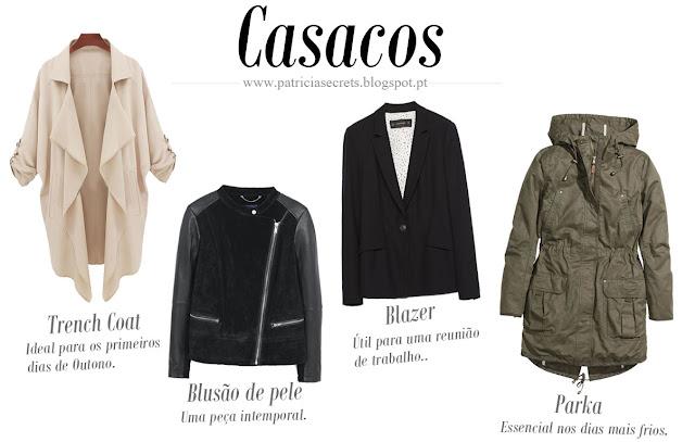 Essenciais de outono, casacos