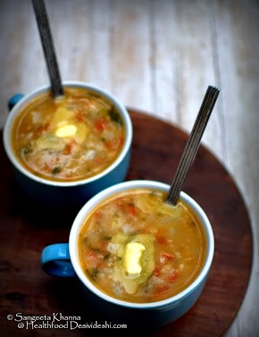 soup dinners | chunky turnip soup recipe with tomatoes and peas