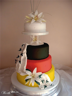 color Wedding Cakes