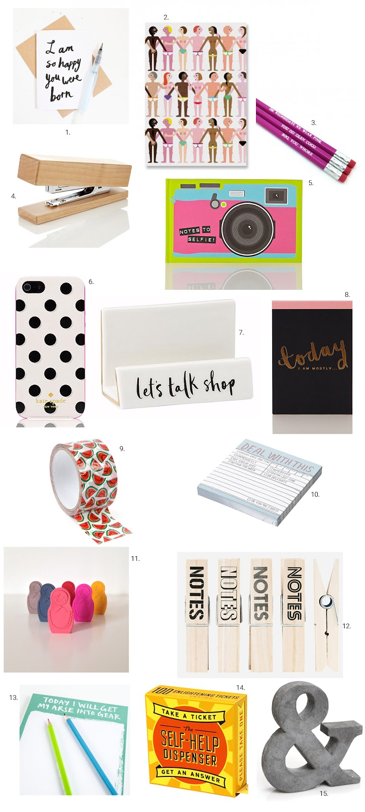 Stationary wish list from Online Stores