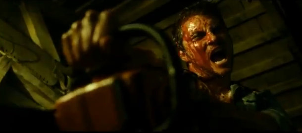 Evil Dead 2013 horror film remake of the 1981 cult classic Evil Dead starring Bruce Campbell as Ash Williams