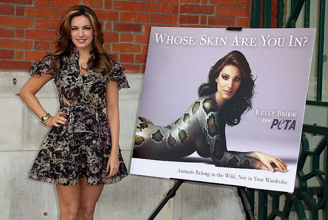 "Kelly Brook – ""Whose Skin Are You In"" PeTA Campaign"