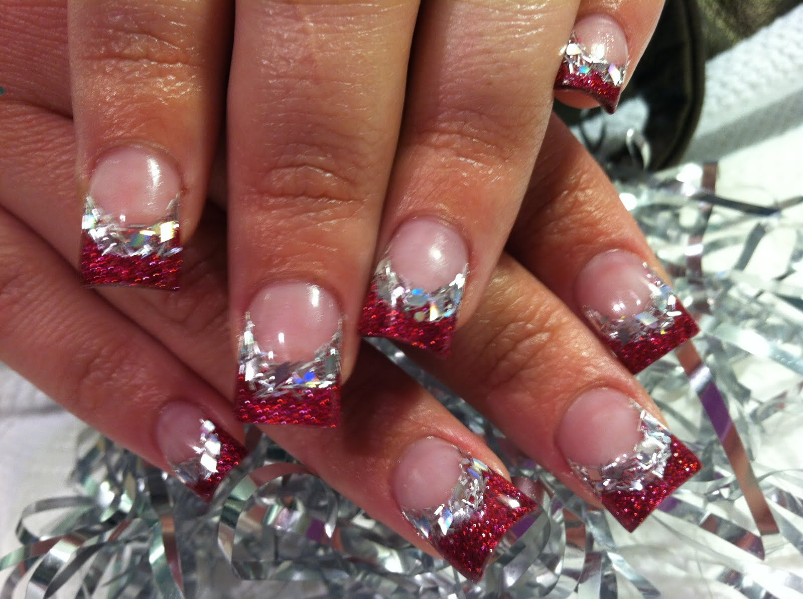 Cute simple nail designs with glitter