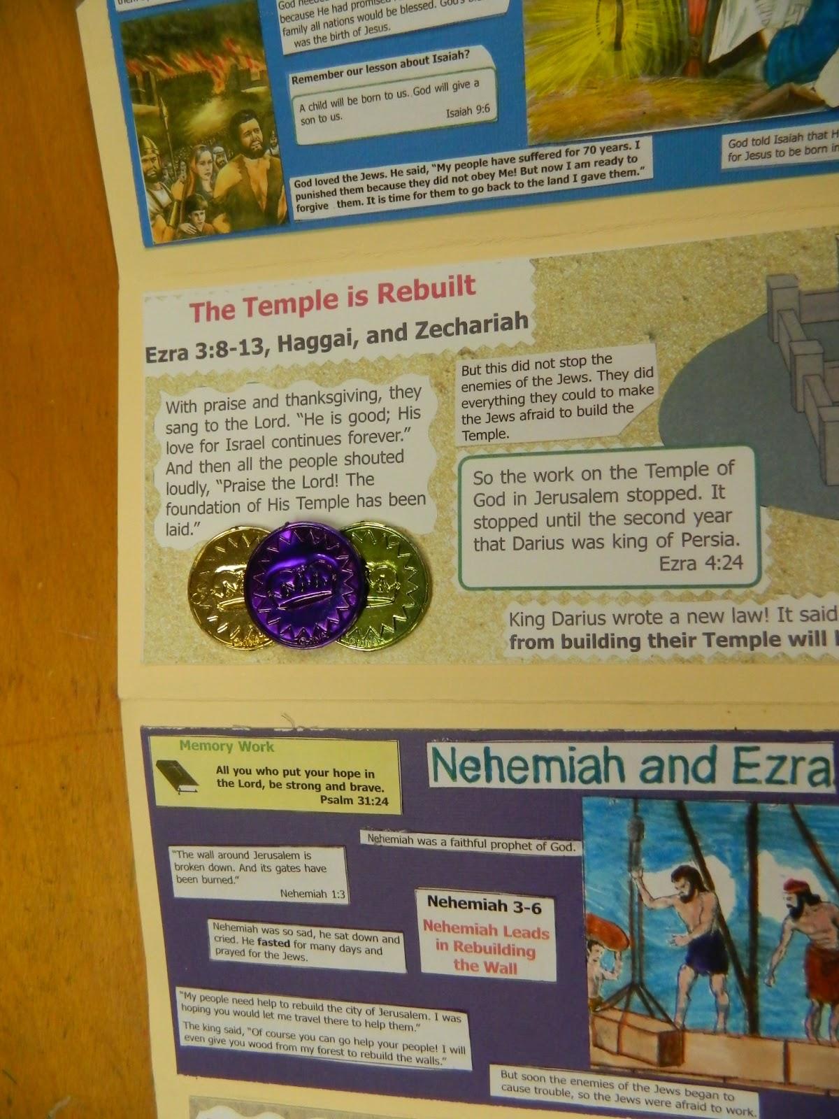 hands on bible teacher lap book activity from the 2nd 4th grade class