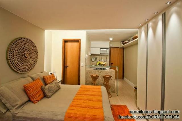 Dormitorios naranjas for Dormitorio naranja