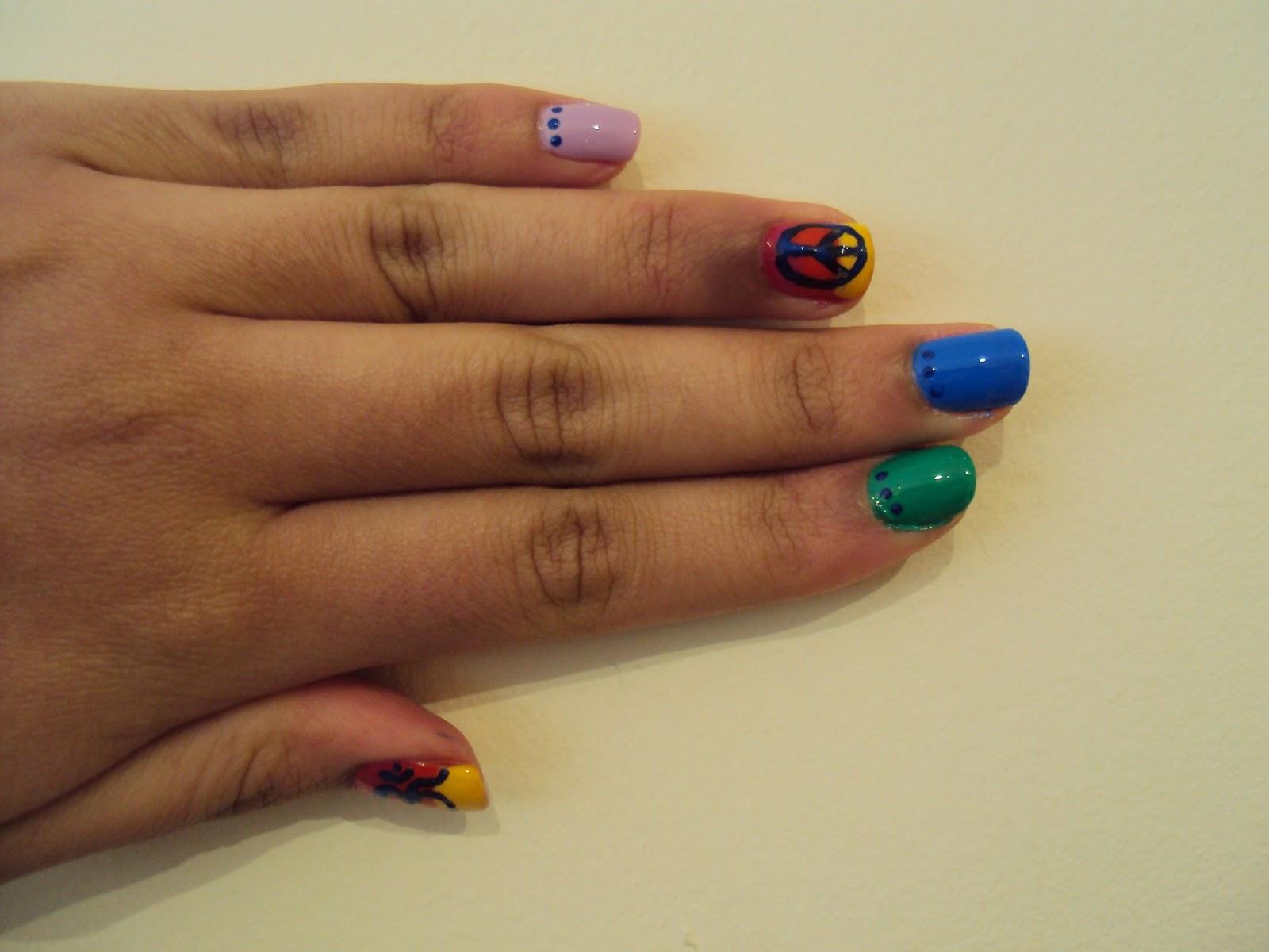 Peace Nails | Nail Art by Lena