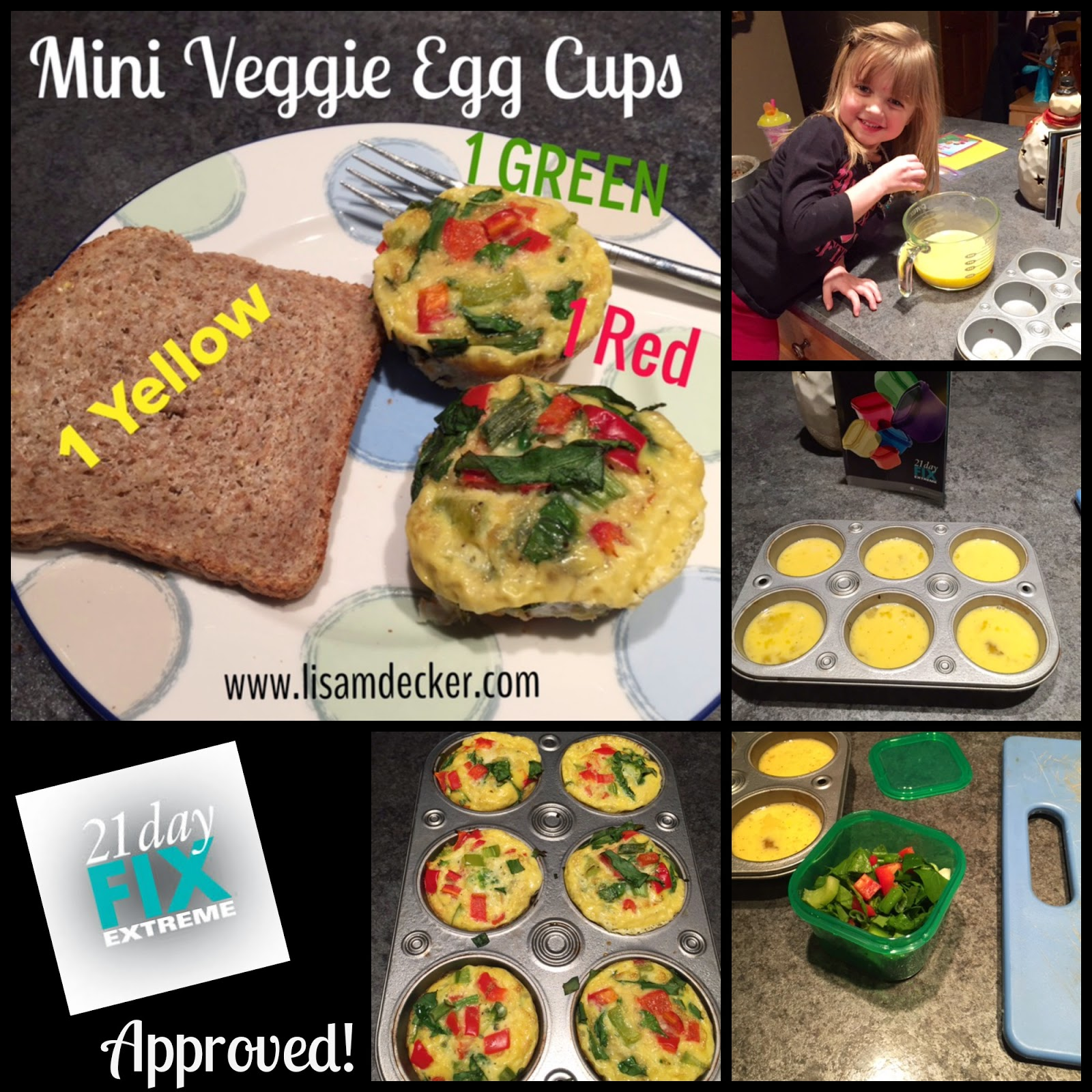 Mini Veggies Egg Cups, Egg White Muffins, Healthy Breakfast, Clean Eating, 21 Day Fix Extreme Recipes, 21 Day Fix Extreme