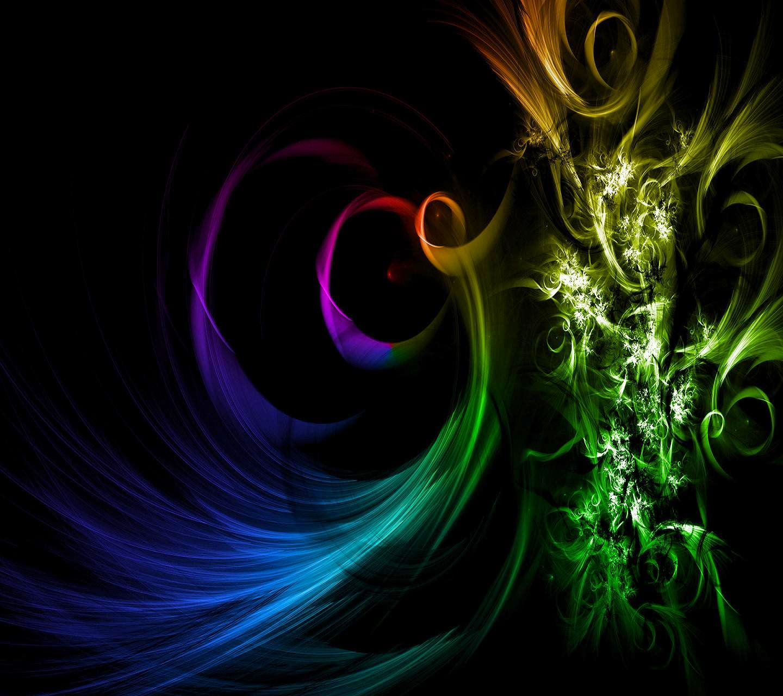 Colourful 3D Digital Art Black Wallpaper Wallpaper HD Desain