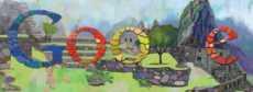 Machu Picchu logo de Google doodle 24 de julio Machu Picchu 100 aniversario del descubrimiento científico de Machu Picchu