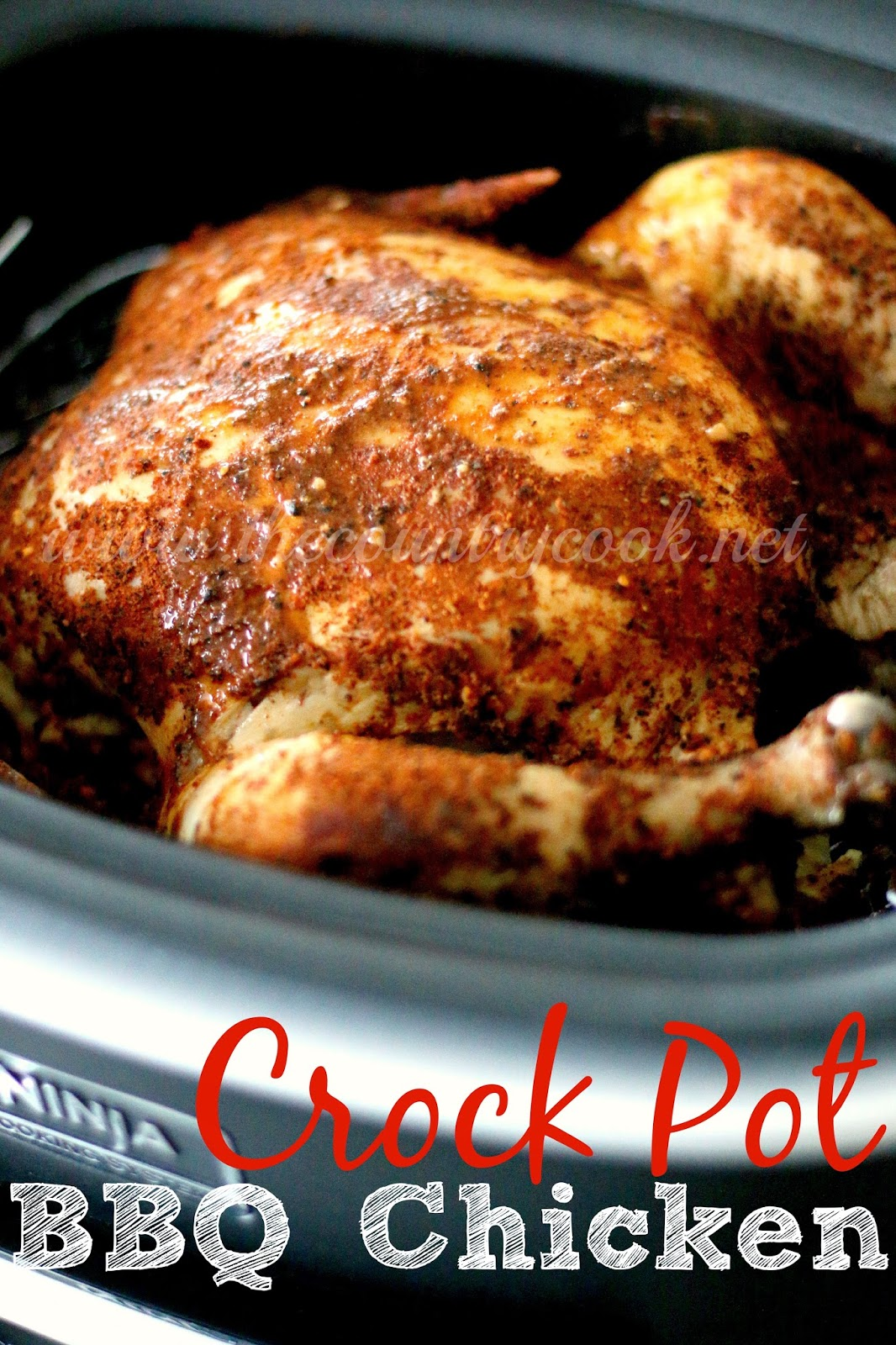 Crock Pot Whole BBQ Chicken - The Country Cook