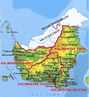 Peta Pulau Kalimantan