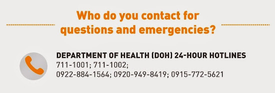 DOH Hotline numbers for MERSCoV