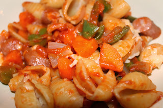 Hotdog pasta - www.jibberjabberuk.co.uk