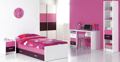Girls Bedroom Design With Pink Color