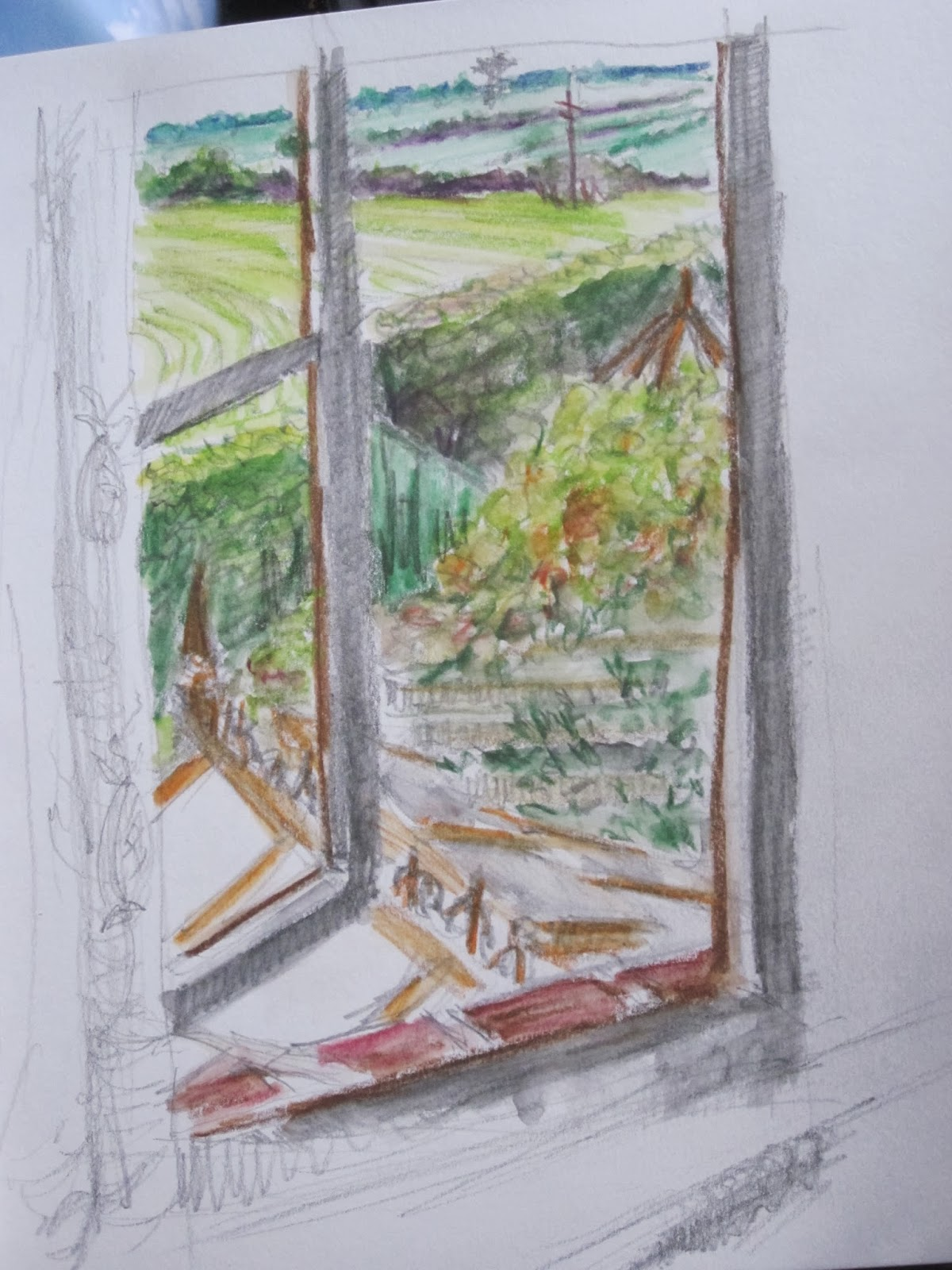Assignment 3 View From A Window Grahamsdrawingsoca