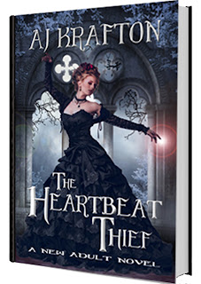 http://www.amazon.com/Heartbeat-Thief-AJ-Krafton-ebook/dp/B00UZC9W7U/