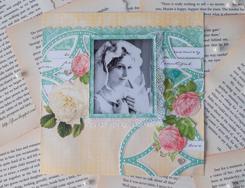 утро невесты скрап, фотография невесты черно-белая, скрап желтый бирюзовый, скрап страничка свадьба 20х20