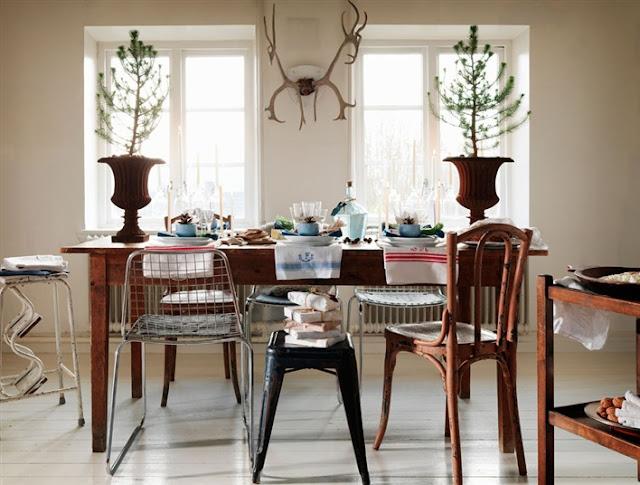 mesa navidad estilo nordico