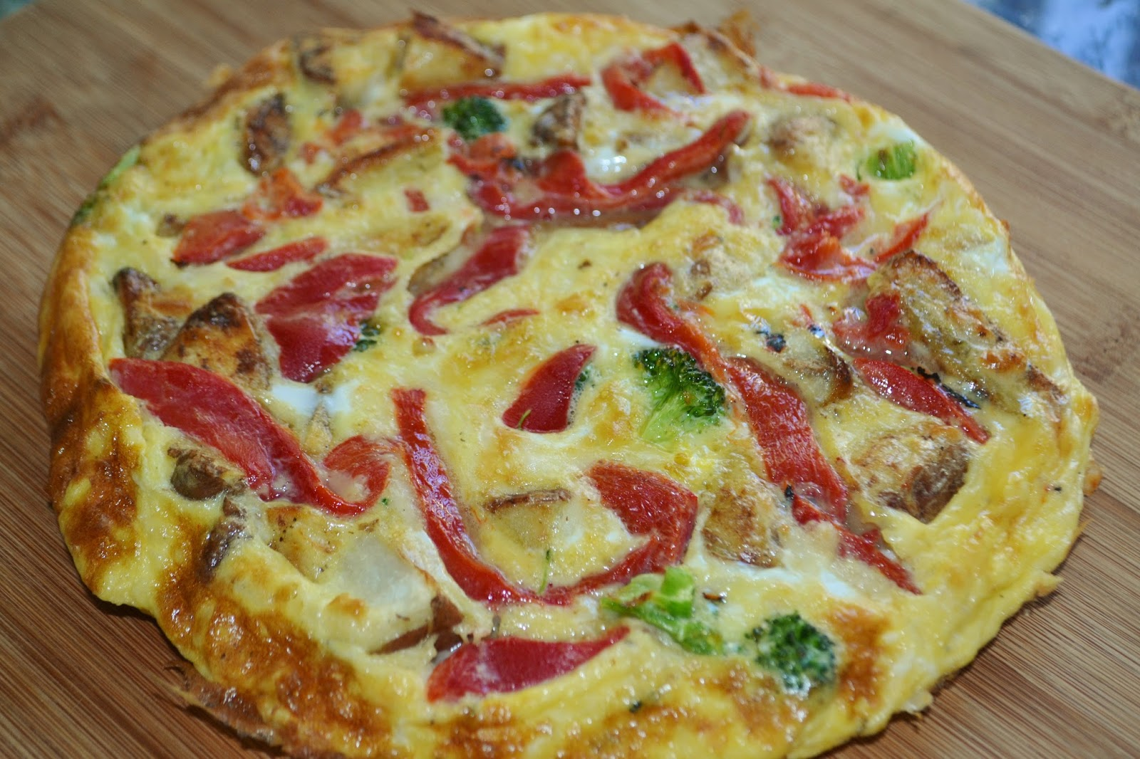 ... Roasted Bell Pepper, Red Potato, Broccoli and Provolone Frittata for