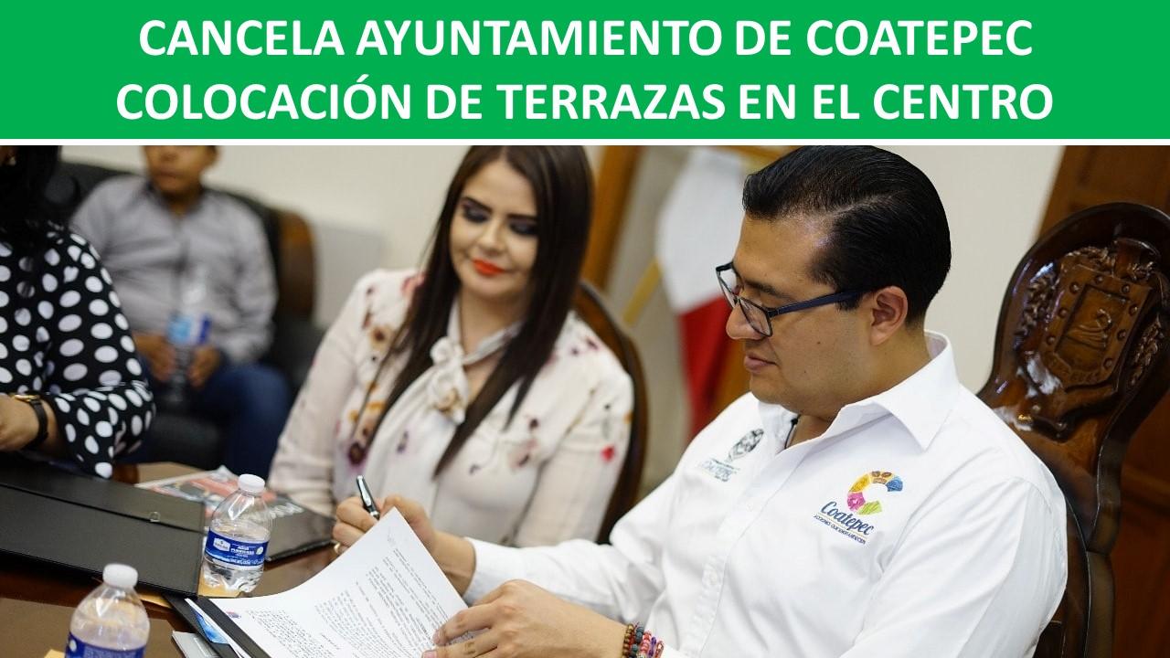 COLOCACIÓN DE TERRAZAS EN EL CENTRO