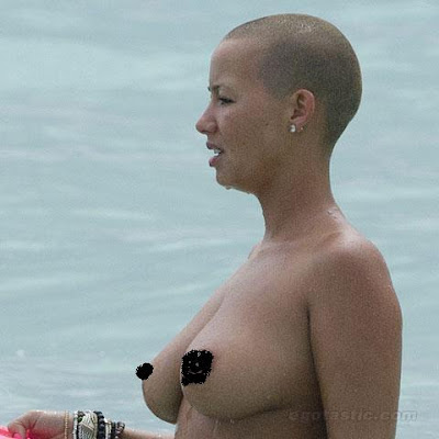 amber rose beach photos. Kanye West#39;s Ex Amber Rose