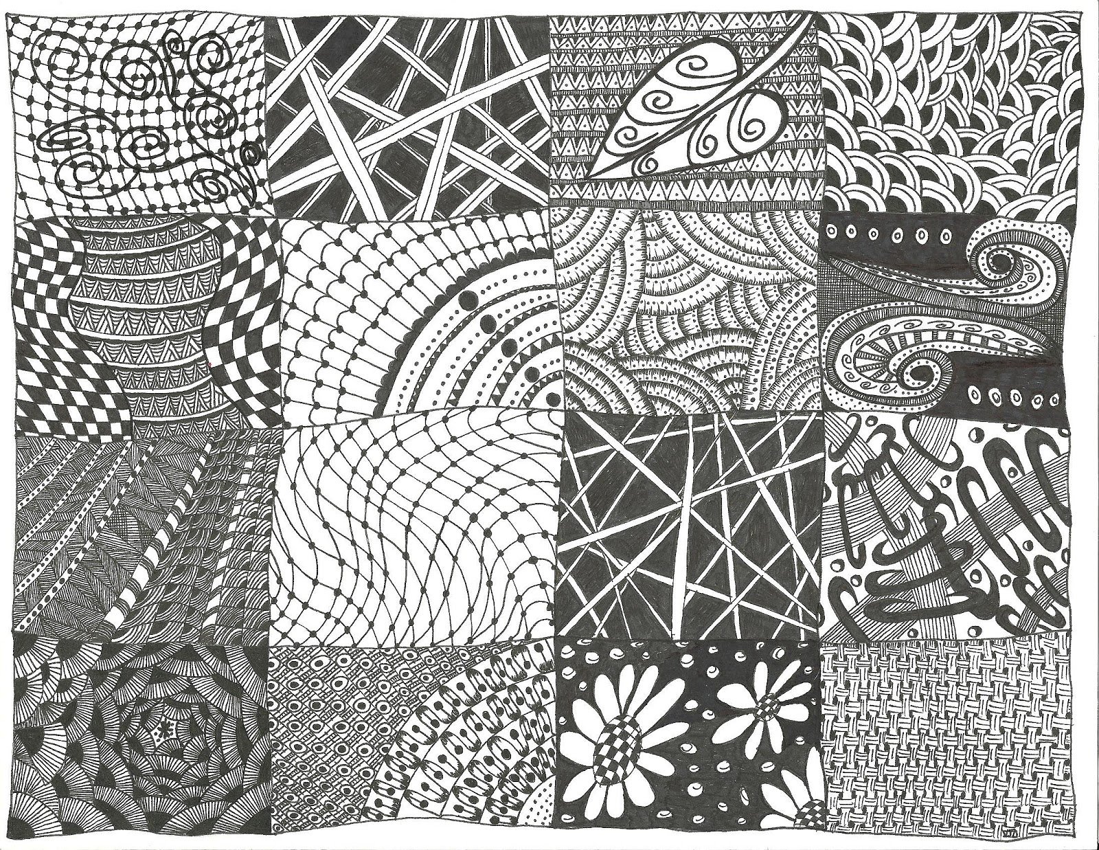 All Things Parchment Craft : ZenDoodle Sampler - Zentangle ...