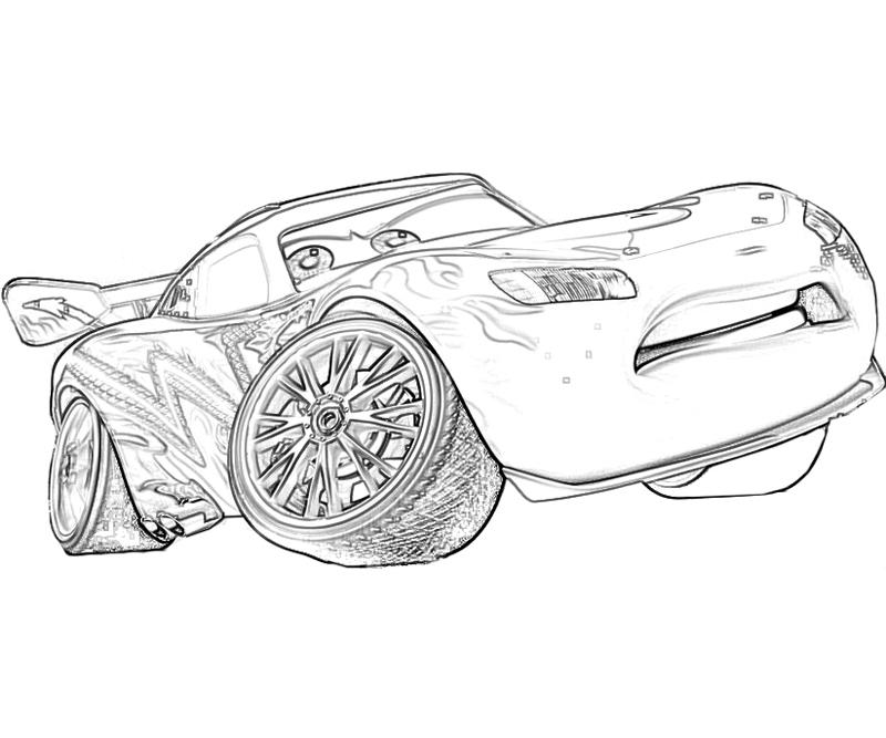 Hilaire image throughout lightning mcqueen coloring pages printable