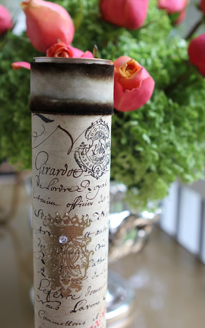 Romancing the home wedding invitation in a tube for Home party tube