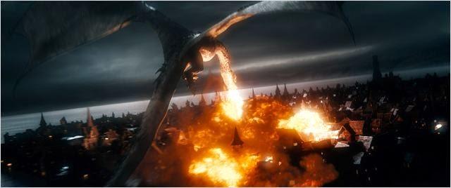 """Smaug en """"El Hobbit: La Batalla de los Cinco Ejércitos"""""""