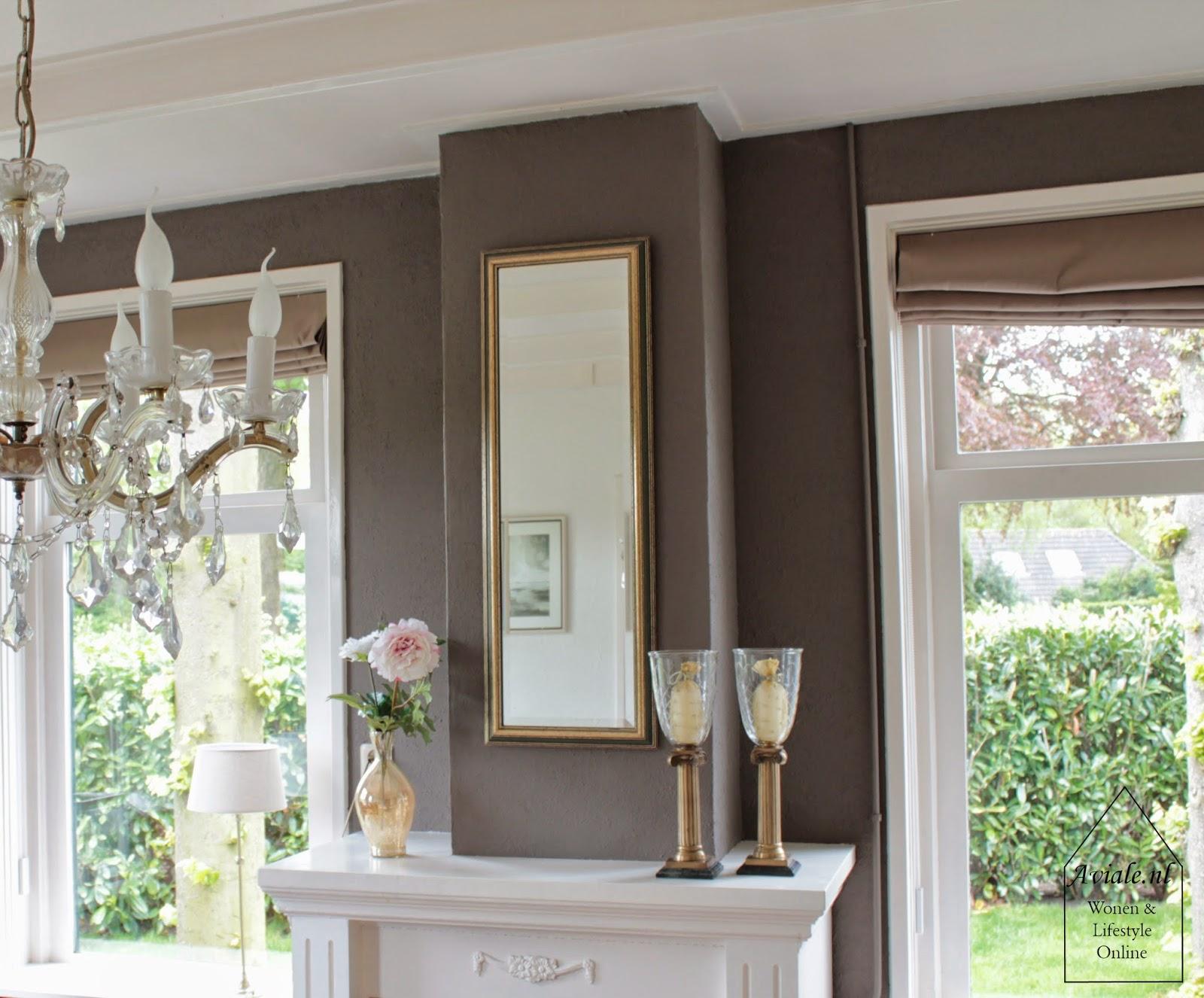 Bruine Slaapkamer Muur : Grijze muur bruine meubels donkere muur roomed with grijze muur