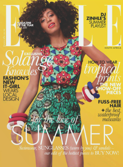 Solange Knowles for ELLE SOUTH AFRICA NOV 2012