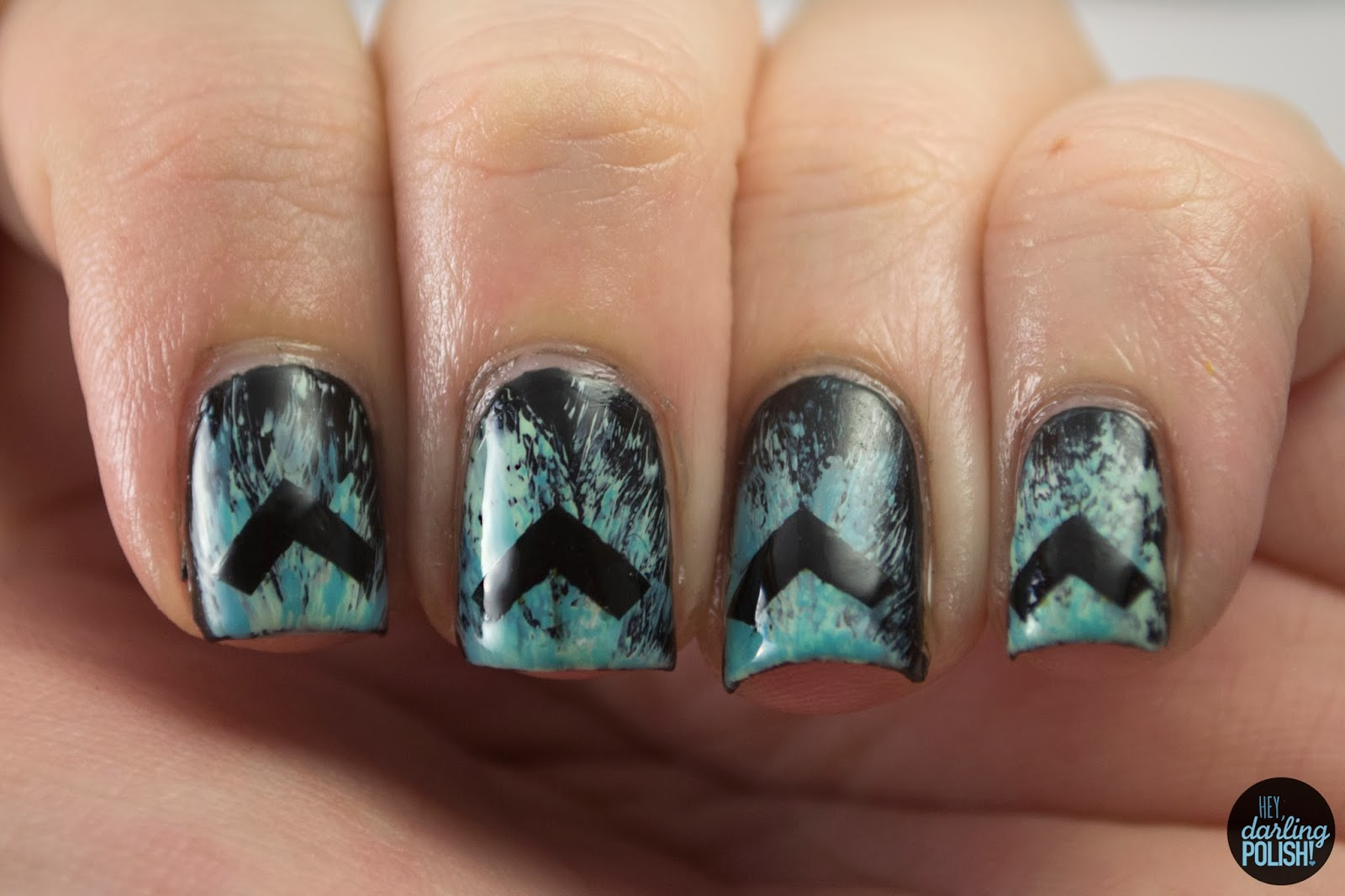 nails, nail art, nail polish, polish, the lonely forest, arrows, music monday, hey darling polish