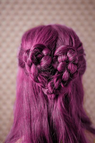 trenzas en pelo color rosa 2013