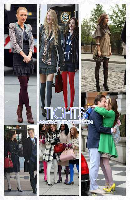 Colored tights, Blair, Serena, Jenny and minions Gossip Girl Grace Intemporelle