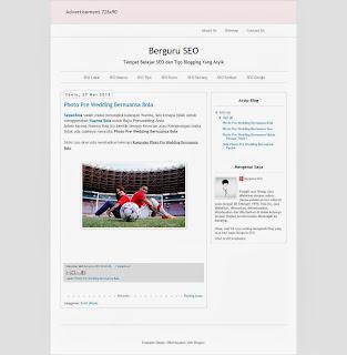 Hasil Akhir Belajar Cara Edit Template Blogger Keren