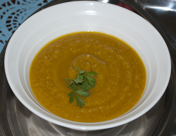 Spicy Carrot and Chickpea Soup