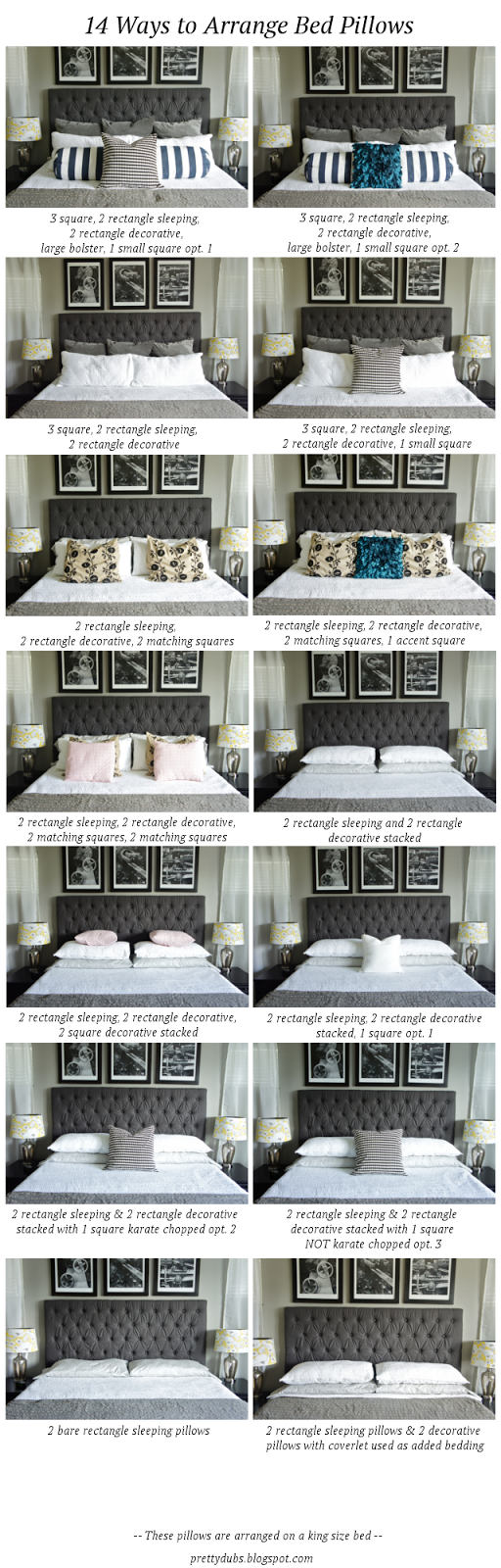 14 WAYS TO ARRANGE BED PILLOWS