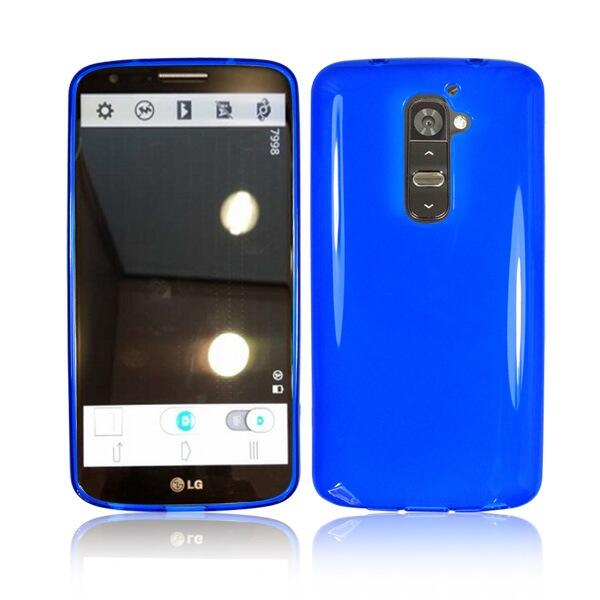 LG G2 with Blue Case