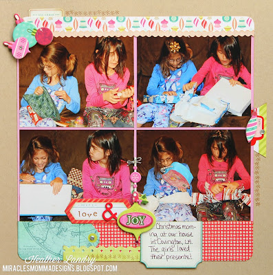Girls_Christmas Morning_Presents Scrapbook