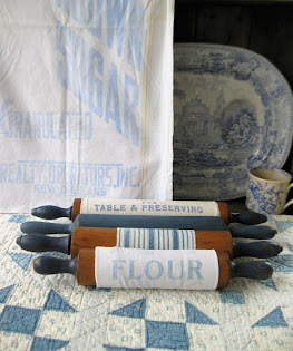 rolling pins in blue