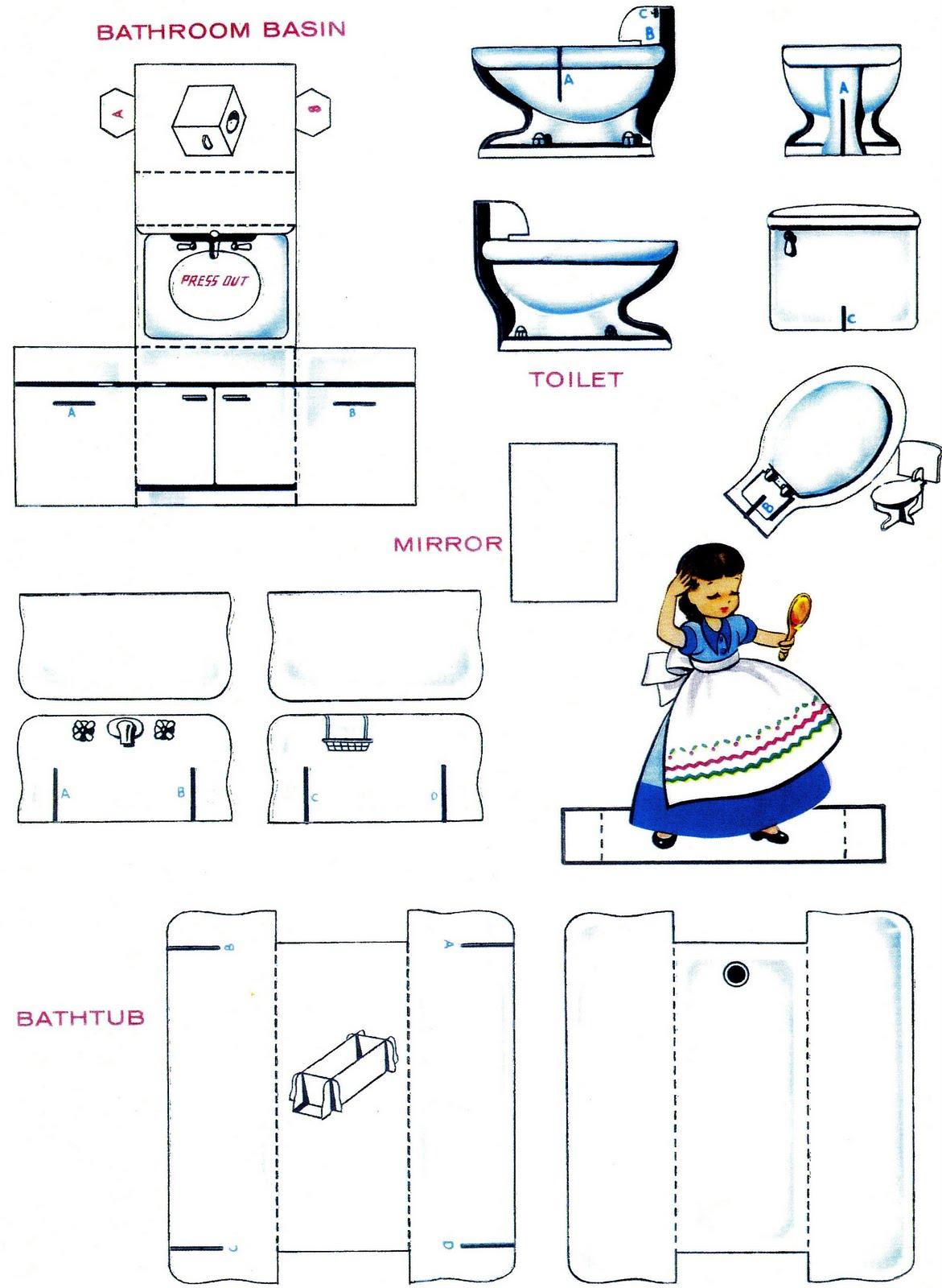 Как сделать унитаз из бумаги для кукол