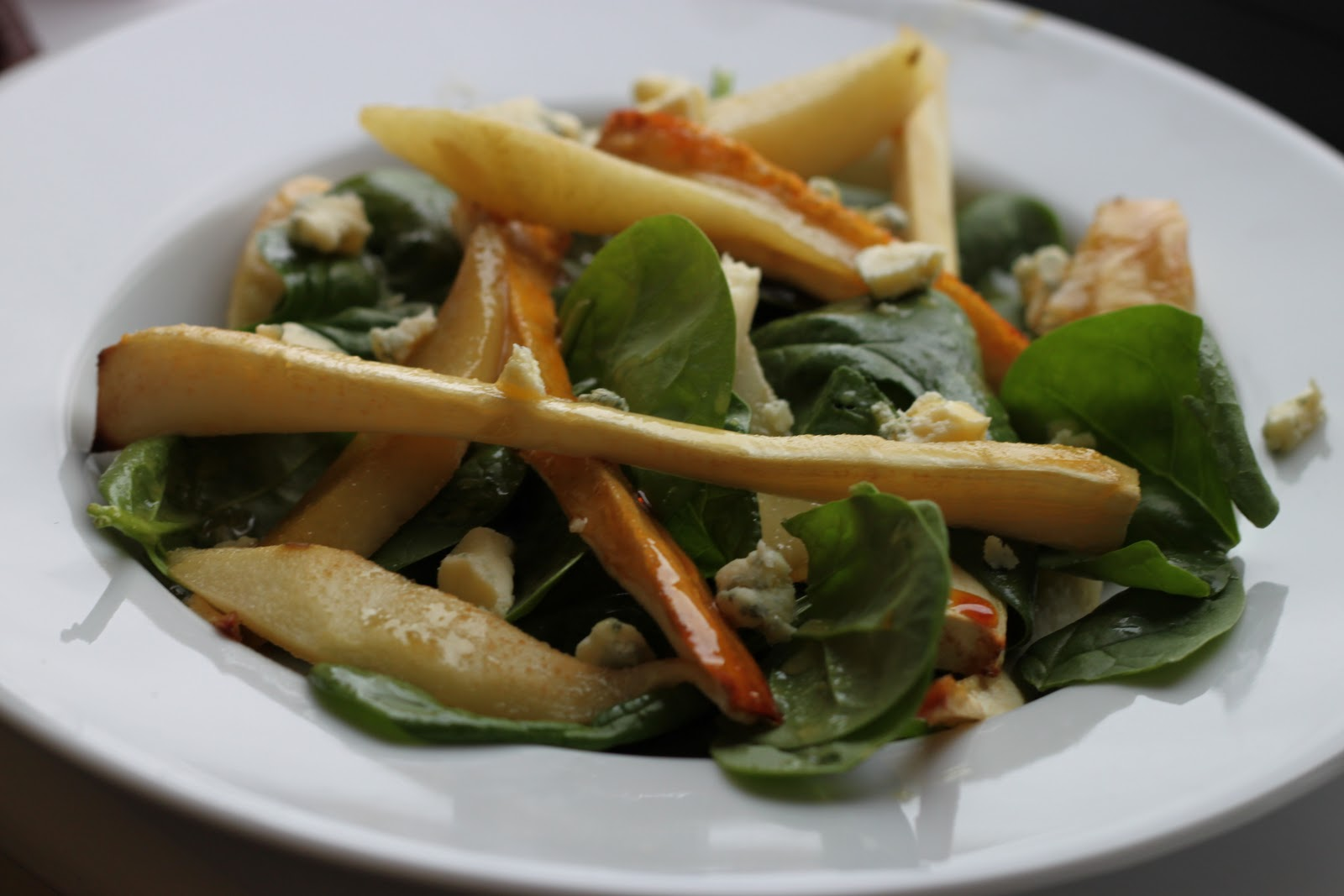Culinary Conquests: Honey Roasted Pear and Parsnip Salad