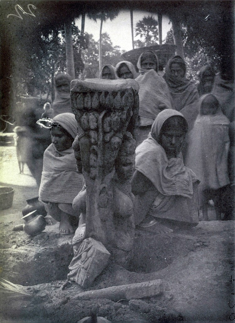Ancient Female Statue Found Near Agam Kuan, Patna, Bihar - c1895