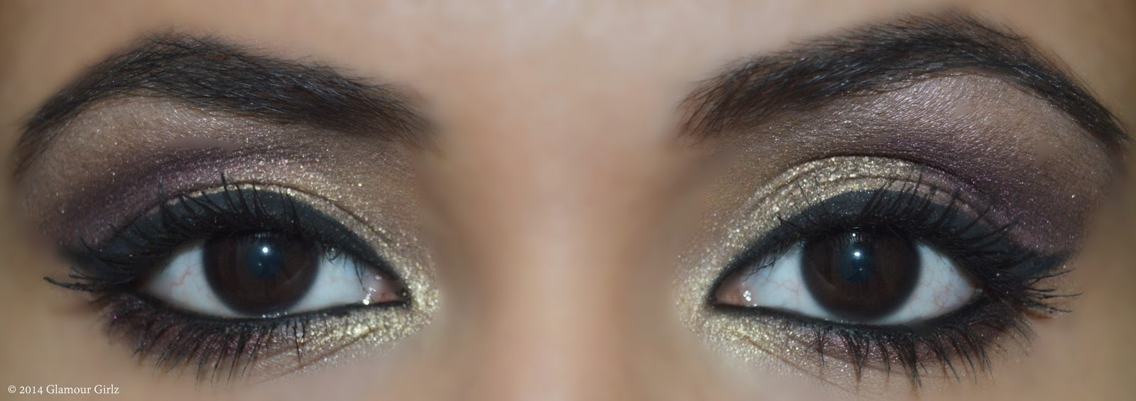 Completed look-Eye makeup tutorial.