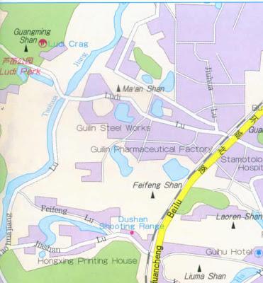 Guilin City Map of China