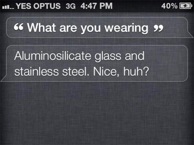 Ask Siri a silly question.