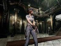 Jill dentro da mansão no remake
