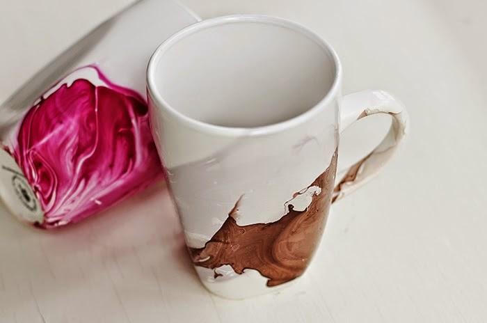 diy un mug d cor au vernis ongles initiales gg. Black Bedroom Furniture Sets. Home Design Ideas