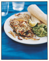 Weight Loss Recipes : Chicken Soft Tacos with Tangy Guacamole