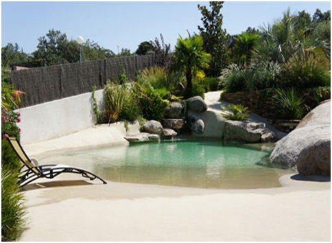 Build sand swimming pools and natural ponds
